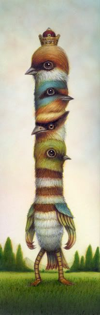 Naoto Hattori, Japanese pop surrealism #art #birds - Carefully selected by…