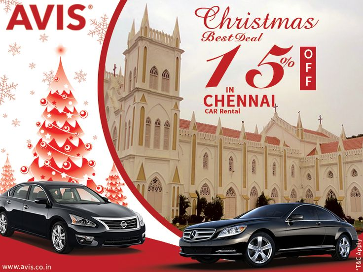 Chennai, the capital city of South Indian state Tamil Nadu is located at the Coromandel Coast along the Bay of Bengal. This fourth largest metropolis of India was fully developed during the time of British colonization. If you are planning your trip to Chennai on Christmas, drive through a car rental service for more  Incredible Experience, freedom and comfort while travelling. Get a great Christmas car rental deal with AVIS India, with pick up and drops facility.
