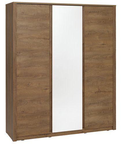 Ruhásszekrény VEDDE 3 ajtós tükörrel   JYSK