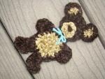 TUTORIAL inglese: Crochet Flowers, Crafts Ideas, Appliques Patterns, Bears Appliques, Crochet Free Patterns, Crochet Teddy Bears, Applied Hook, Wall Hook