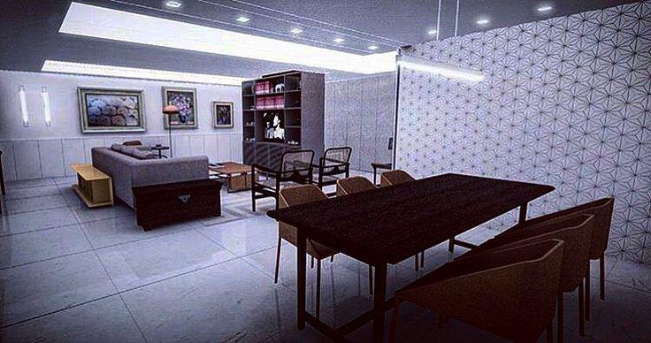 #Repost @mutabilearquitetura ・・・  Sala de Jantar para AP LP #revestimento #cimenticio #gaussrevestimentos #revestimentofloke