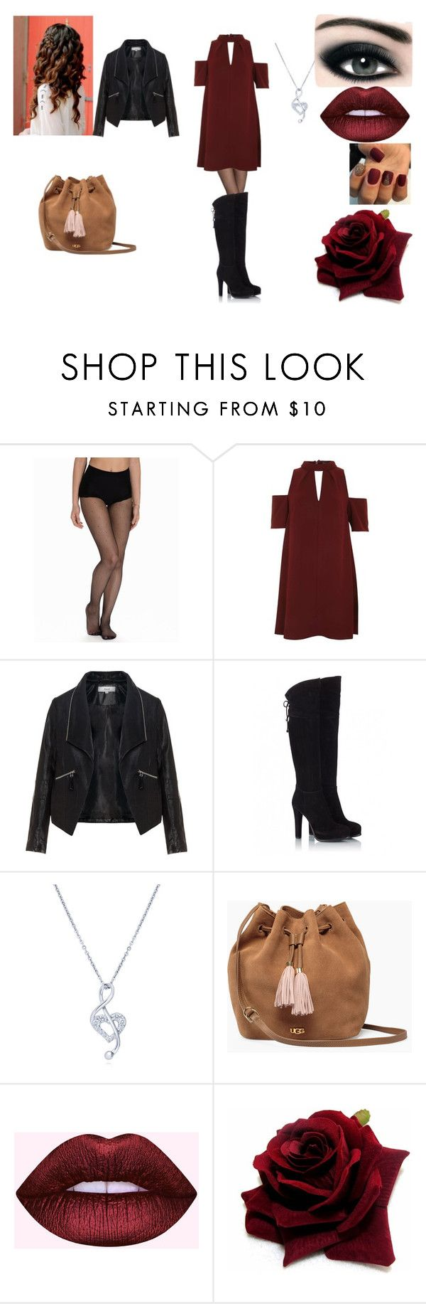"""""""valentines"""" by geor6900 on Polyvore featuring DIM, Topshop, Zizzi, Fratelli Karida, BERRICLE, UGG and Max Factor"""