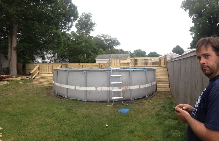 Two Tier Pool Deck Builder Jim From Jim Of All Trades In