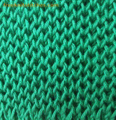 Honeycomb knitting stitches