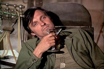 Alan Alda in M*A*S*H (not James Bond) is why I have always love the idea of drinking martinis....even if I hate the taste.