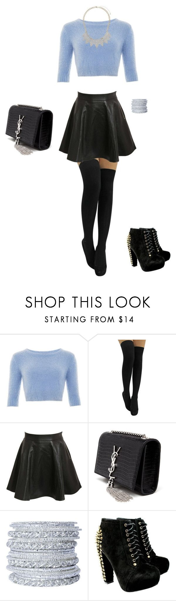 """""""<3"""" by sylver-fang on Polyvore featuring Pilot, Yves Saint Laurent, Chamak by Priya Kakkar, Miss Selfridge, women's clothing, women, female, woman, misses and juniors"""