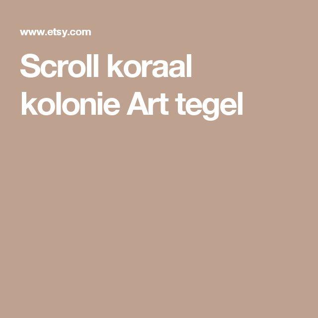 Scroll koraal kolonie Art tegel
