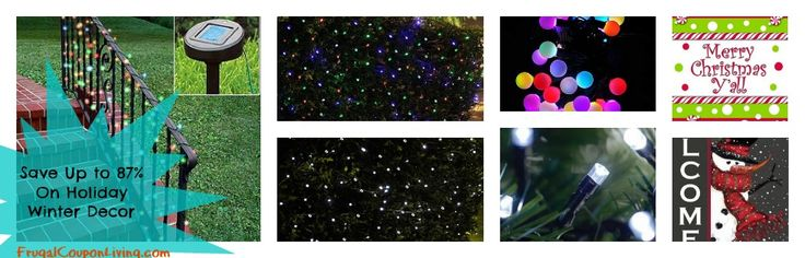 Holiday Decorations Sale Stocking, Flags, Lights –  Solar Powered Christmas Lights String 60 percent 0FF