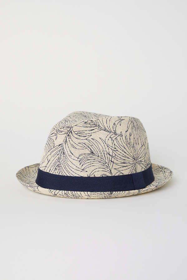 303833cd60a H M H   M - Patterned Straw Hat - Beige patterned - Men