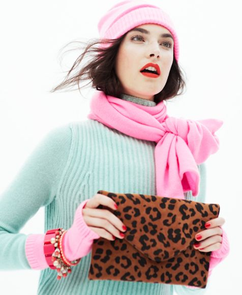 There's something about the pink with leopard print combo. Love.: Colors Combos, Style, Winter Colors, J Crew, Colors Mixed, Leopards Prints, Animal Prints, Jcrew, Leopard Prints