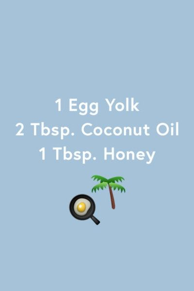 Color-treated hair is notorious for being damaged and dry. Apply a protein-packed egg yolk, nourishing coconut oil and nutrient-rich honey to revive your stressed strands. Let it sit for 30 minutes and rinse thoroughly.
