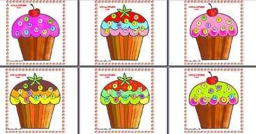 Cupcake lotto / jeu loto des cupcakes