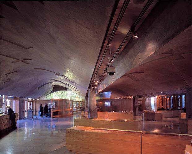 Interior Of The Scottish Parliament Building In Edinburgh
