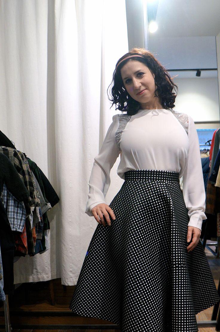 Jessica, our cute american girl got this delicate umbrella skirt. Fashion girl she is! #Le132Turenne #fashionshop #Paris #winterstyle #ParisStyle #shoppinginParis #apparel #umbrellaskirt #festivalseason #whatiwore #inspiration #outfit #ootd #wiwt #styliststyle #attitude #dopefashion #ateliervintage #ootdshare #attitude #original #uoonyou #urbanoutfitters #liketkit #dope #mode #moda #New #wishlist