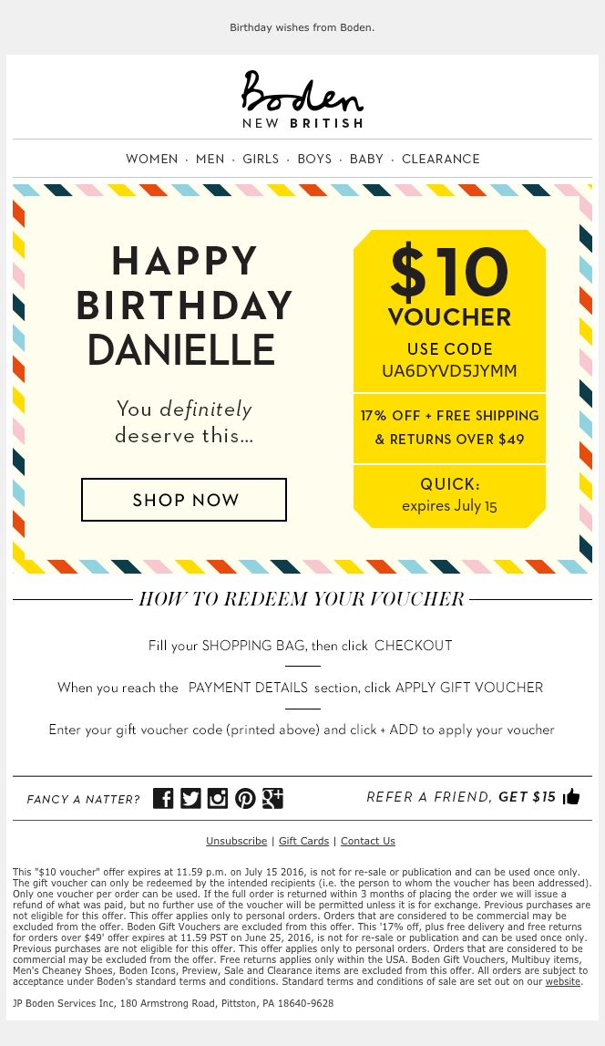 152 best email creatives images on pinterest email for Boden newsletter