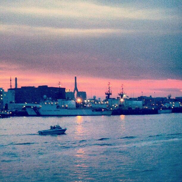 #navy and #coastguard ships docking in #boston