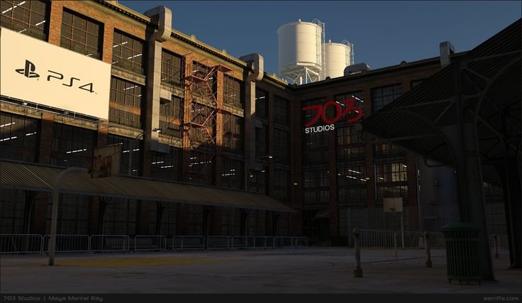703 Studios - a long term Urban 3D environment project. All done using Autodesk Maya and rendered in Mental Ray