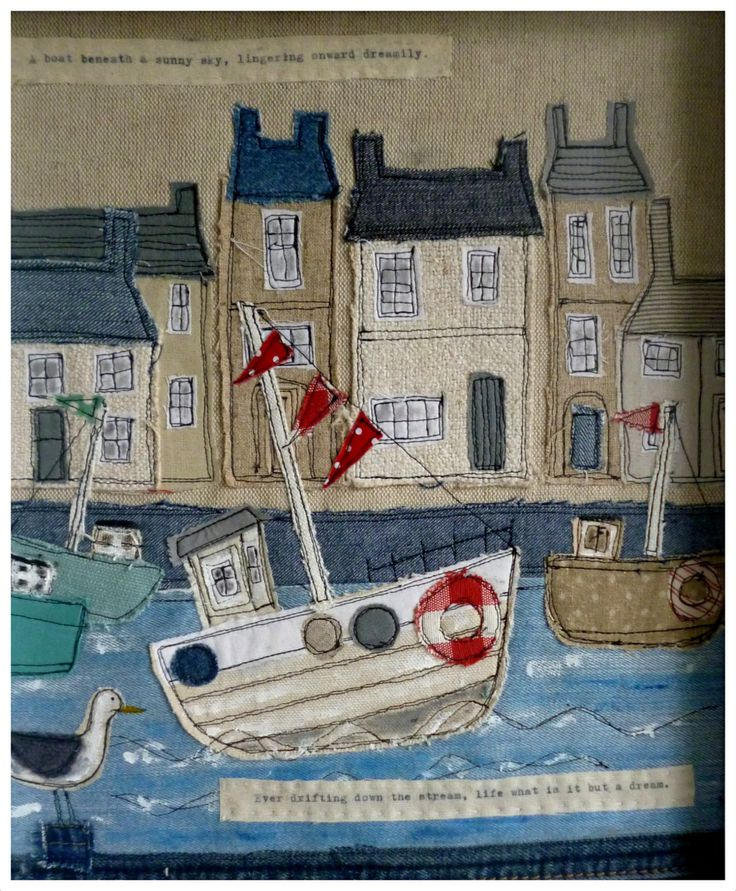 boat & houses  - harbour scene By Loopy