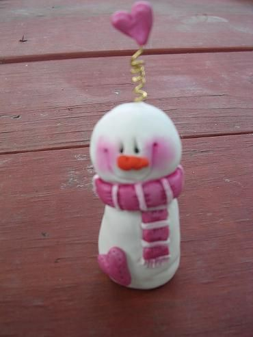 mini snowman by claykeepsakes, via Flickr