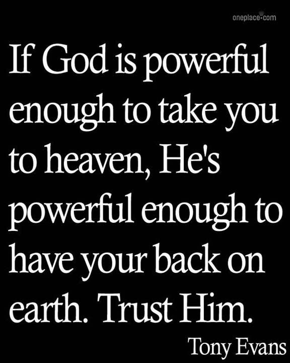 Dear giants in my life, I serve the great I Am...true and powerful. Be advised...that is all. -- REPIN if God's got YOUR back! #trust