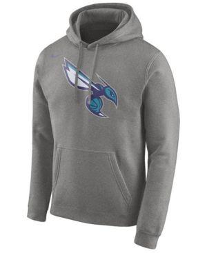 Nike Men's Charlotte Hornets Logo Club Hoodie - Gray S
