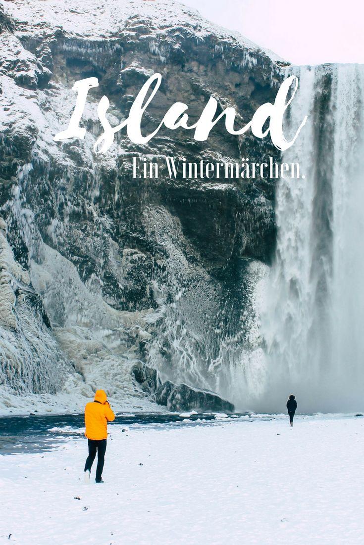 Folgt mir auf eine Bilderreise in ein Wintermärchen - ein Roadtrip durch Island, vorbei an verschneiten Landschaften und tosenden Wasserfällen. Erlebt Island im Winter. #Island #Roadtrip #Skogafoss #GoldenCircle #Strokkur #Geysir #Thingvellir #Vik #Reykjavik