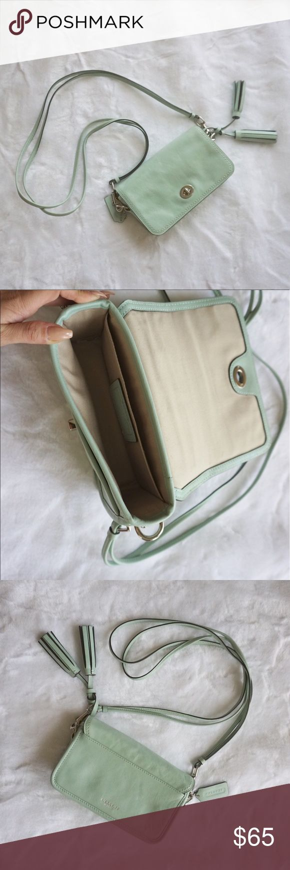 Coach Legacy Collection Crossbody Bag Coach Crossbody bag in mint. Approx 8x4.5x2 with a 21 inch shoulder drop. Great condition. Really pretty bag but I just don't get much use out of it. Just the bag, doesn't come with dust bag. Coach Bags Crossbody Bags