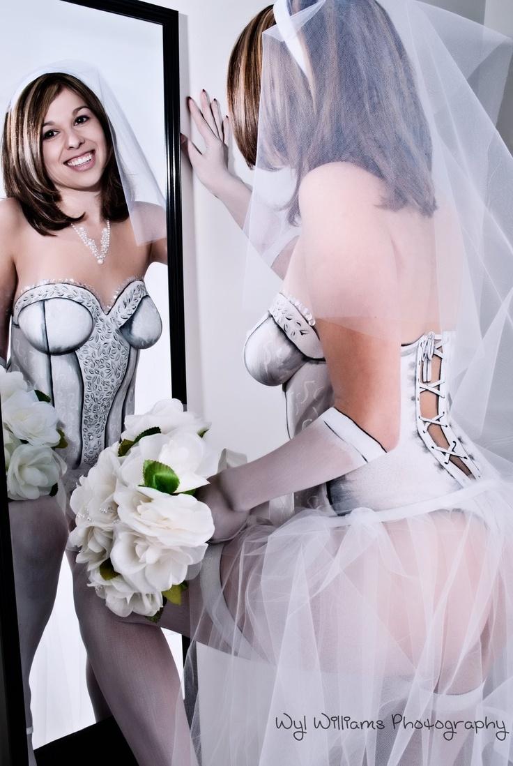 Wedding Dresses Body Paint Dress