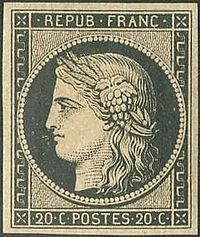 Codex Philately: Le 20 centimes noir / the first French stamp  Collecting stamps…