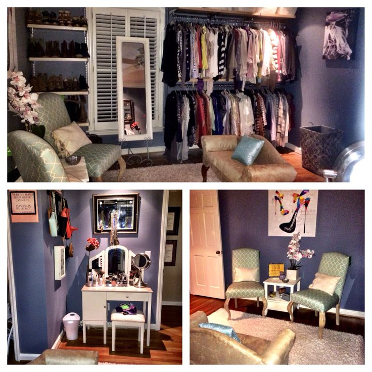 Turn A Bedroom Into A Closet: Spare Bedroom Turned Into Closet/powder Room!