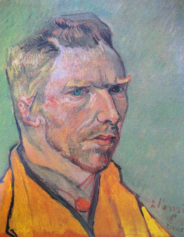 Van Gogh , Self portrait 1888  (Is it just me, or does he sort of look like Benedict Cumberbatch?)