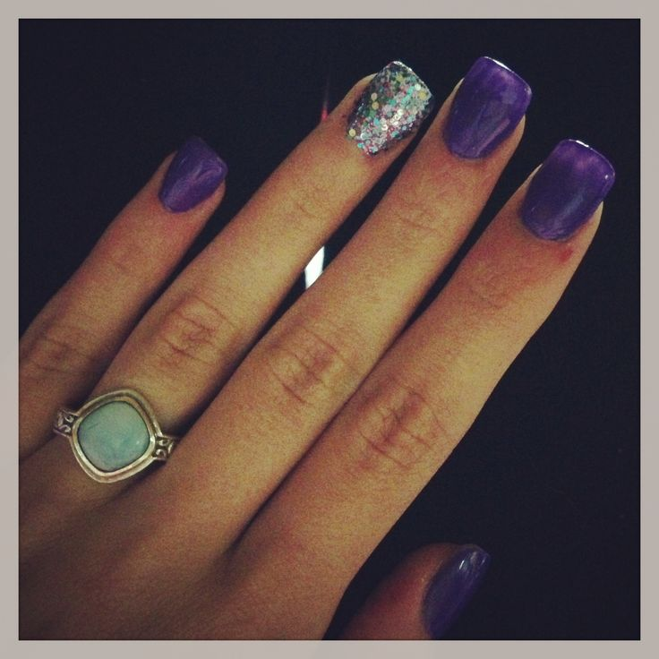 30 best Purple Acrylic Nails images on Pinterest | All things purple ...