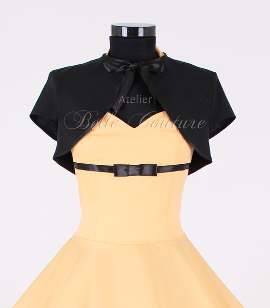 Bolero kurzarm mit Schleife von Atelier Belle Couture 50er Jahre Petticoatkleider Rockabilly Kleider auf DaWanda.com