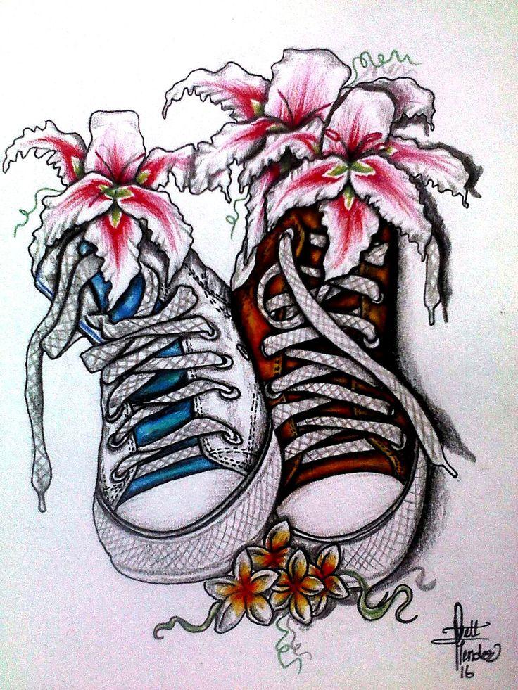 Converse floreadas, por: Ivett Mende<
