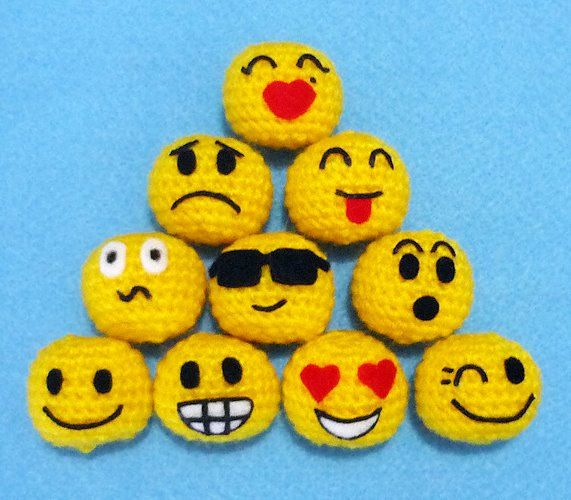 Crochet Emojis!!!                                                                                                                                                      More