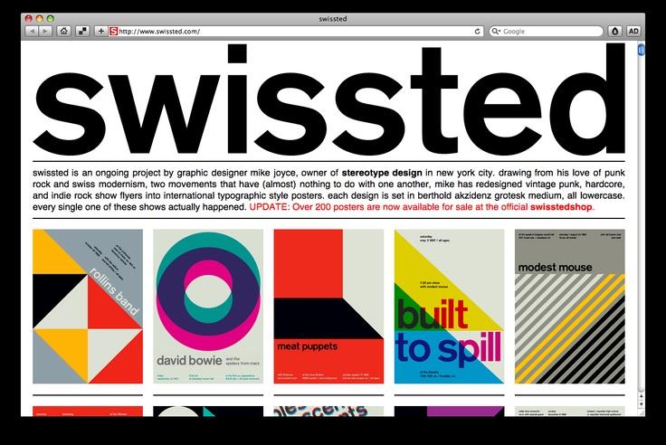 Music & Swiss Modernism // Show Flyer Re-Design by Mike Joyce