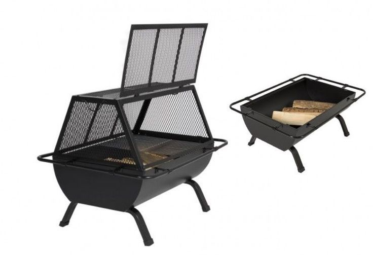 Outdoor BBQ Fire Pit Patio Heater Fireplace Wooden Burning Cooking Camping Grill #OutdoorBBQFirePit #fire,#pit,#garden,#yard,#patio,#set,#bbq,#outdoor,#wood,#burning,#bowl,#screen,#protector