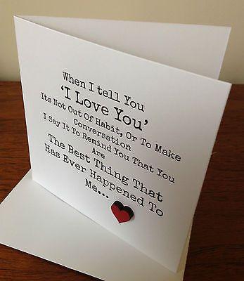 #anniversary #/birthday card #wife/husband/boyfriend/girlfriend...handmade, View more on the LINK: http://www.zeppy.io/product/gb/2/272089188625/