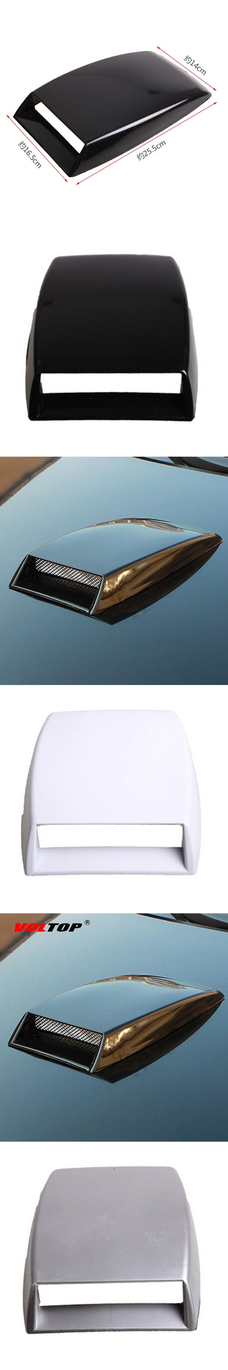 VOLTOP Car Stickers Hood Ornament Parasol Coche Roof Ventilation Air Inlet Hood Engine Cover Air Network Device Refit Decoration