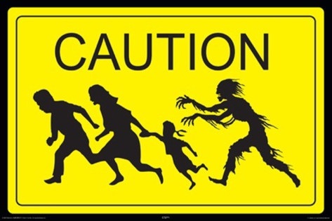 Zombie Caution Poster