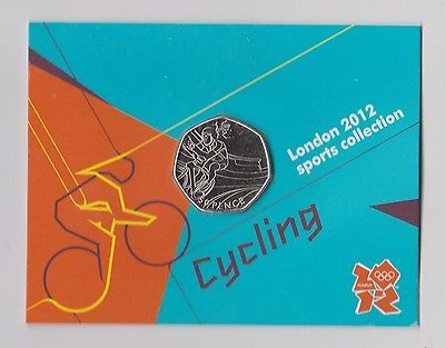#Cycling - rare 50p olympic 2012 #london #fifty pence uncirculated coin in folder,  View more on the LINK: 	http://www.zeppy.io/product/gb/2/322393123540/