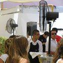 Terrazas y zonas VIP: Ventiladores con agua & sistemas de microclima Masterkool - Terraza F1GP. Valencia