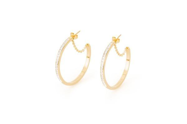 Per completare la collezione Tring anelli adesso ci sono gli orecchini Ear Trinh in acciaio, pvd nero e pvd oro combinati con diverse varianti di cristalli colorati