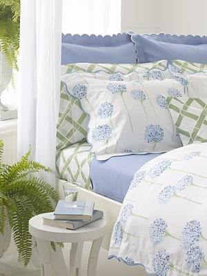 Bedding that works, periwinkle blue is a favorite - all cotton