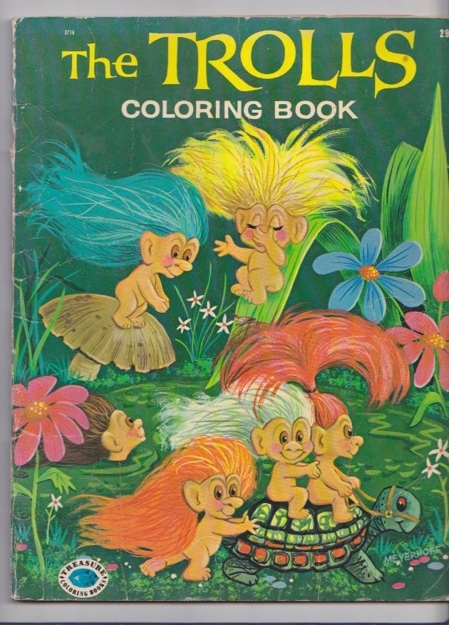 The Trolls Vintage 1965 Coloring Book - Treasure Coloring Books