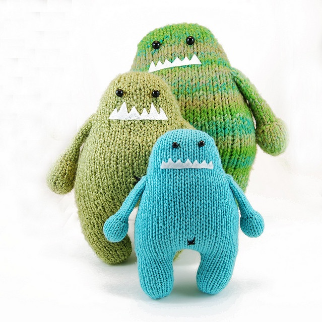 Fat monster doll family by dangercrafts, via Flickr