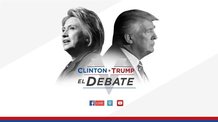 Clinton vs. Trump: El debate presidencial en español