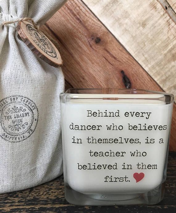 Special dance teacher gift, now with an option to add a personal message to the back.