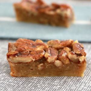 The yummiest, easiest Pecan Pie bars ever.. enjoy at anytime of the day! Perfect with an afternoon cup of tea... or as a late night treat!