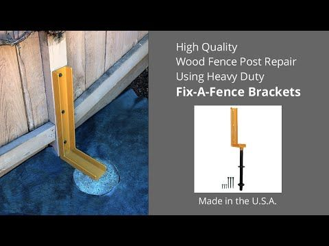 Best 25 Fence Post Repair Ideas On Pinterest Post